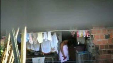 Hidden Cam Clip Of Neighbor Lady In Bathrobe