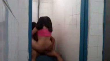 College girl Shobana fucked in bathroom by lover
