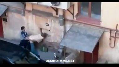 Mumbai college girl caught by hidden cam during outdoor sex