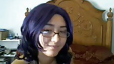 Cutie in glasses topless on webcam- hotcamgirls.in