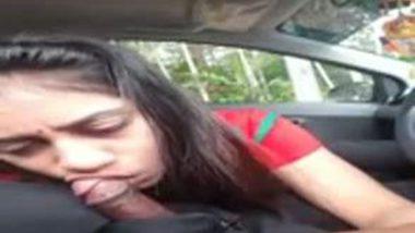 AVP college girl Sheetal's blowjob to lover in car