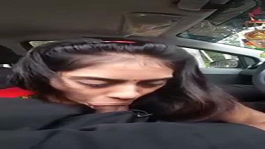 Nainital bhabhi agrees to blow devar in the car!
