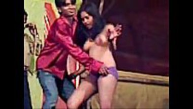 North Indian village record dance showing nude dance