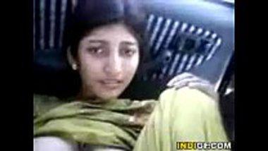 Hot Muslim teen enjoying her car sex