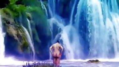 Desi nude at waterfall