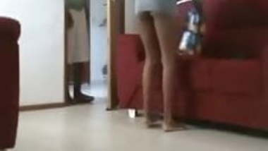 Indian Girl showing her ass to servant