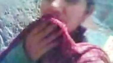 Indian teen girl exposing & sucking for money