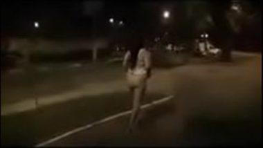 Bold Indian Aunty Walking Naked On Street