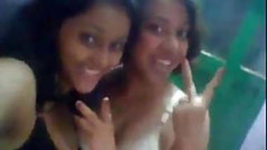two desi college girls masti in bra and panties selfie nude