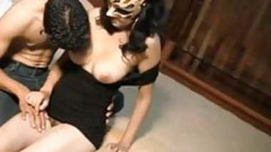 Amateur Indian Girl with Mask