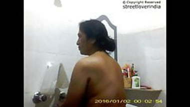 Sexy Indian Bengali Aunt Mili captured in bathroom Part 1