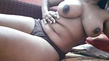Sexy girl masturbating in Bra and panty