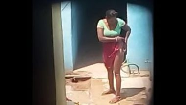 South Indian Aunty In Saree Bathing Video In Hidden Cam