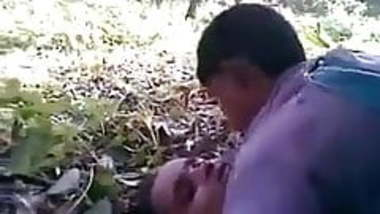 Indian girl has threesome with her boyfriends in the jungle