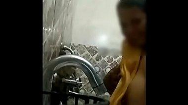 Desi BBW bathing on video call with Devar