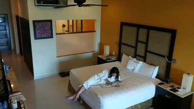 Young girl molested, forced to fuck and creampied against her will by hotel room intruder hidden spy cam POV Indian