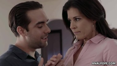Strange And Creepy Son Fucks Her Terrified StepMother - India Summer