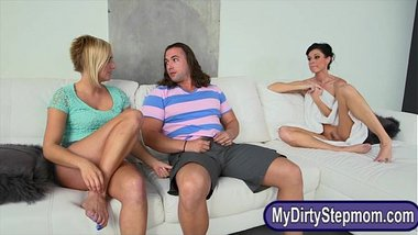 Kate England and India Summer hot ffm threesome session
