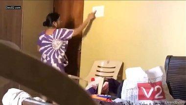 Indian bhabhi changing her dress