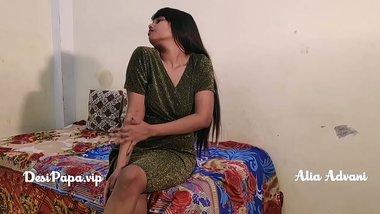 indian model Alia Advani stripping teasing solo sex