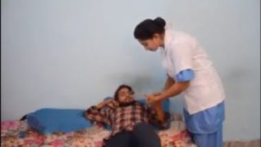 Desi lady doctor sex with young patient in clinic