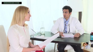 Indian doctor impregnates blonde patient as she begs for sperms in her pussy