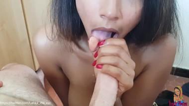 Latika Jha - Amateur Blowjob by an Indian Cutie on a Swiss Cock (LJ_002)