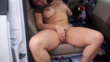 Outdoor Risky Public Sex In Car Wih Wife Friend