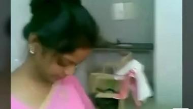 Pink saree girl fuck