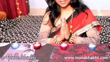 indian aunty mona bhabhi celebrating diwali
