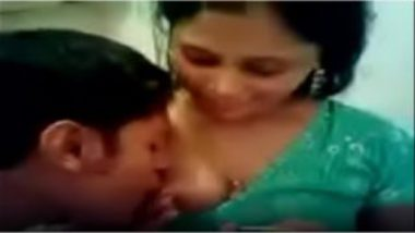 Devar sucking big boobs of hot banares bhabhi