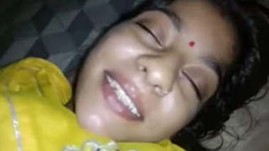 Beautiful Married Bhabi Blowjob In Night