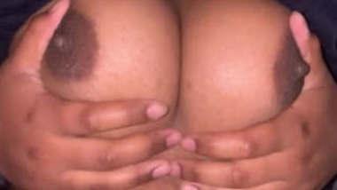 Horny Bhabi pressing Own Boobs