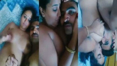 Beautiful booby Indian wife foreplay sex
