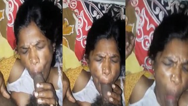 South Indian maid aunty blowjob sex with house owner