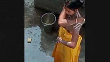 Desi Married bhabi Bathing Secretly Recorded