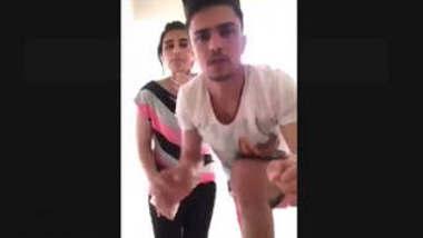 Horny couple standing fuck