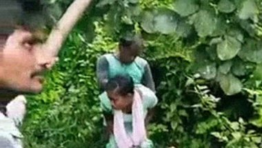 Poor village girl fucked by a gang in the forest