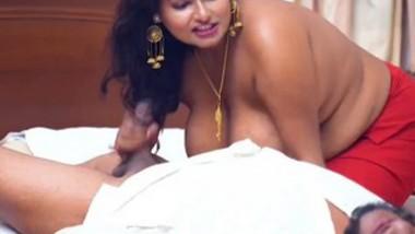 Chubby Girlfriend Giving Nice Handjob & Blowjob