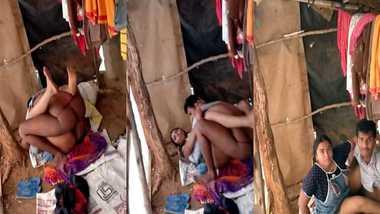 Indian slum couple caught fucking on voyeur's cam