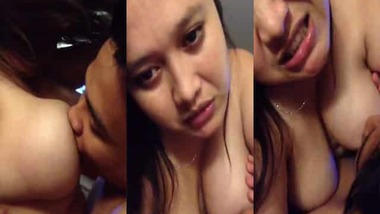 Busty Asammese wife boob sucking MMS video