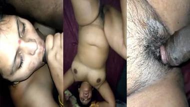 Chubby wife sucking fucking Desi MMS video