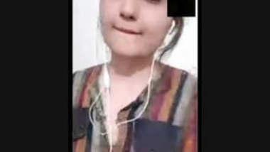Paki Girl Sucking Her Boobs