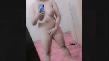 Beautiful Sexy Paki girl Nude selfie On Mirror