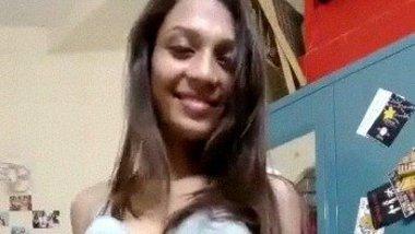 Indian TikTok girl Aashna stripping for fans