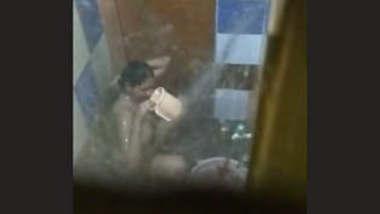 Desi Tamil Wife Bathing Capture By Hideen Cam