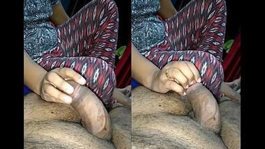 Indian Hot Wife Rub Hubby Dick