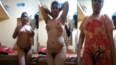 Chubby village wife nude MMS video