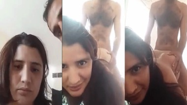 Indian lover girl gets fucked in doggy position
