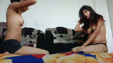 Desi Hot Sisters Nude Catfight Part 1